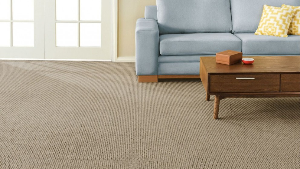 SmartStrand Forever Clean Natural Intuition Worn Leather Carpet Flooring