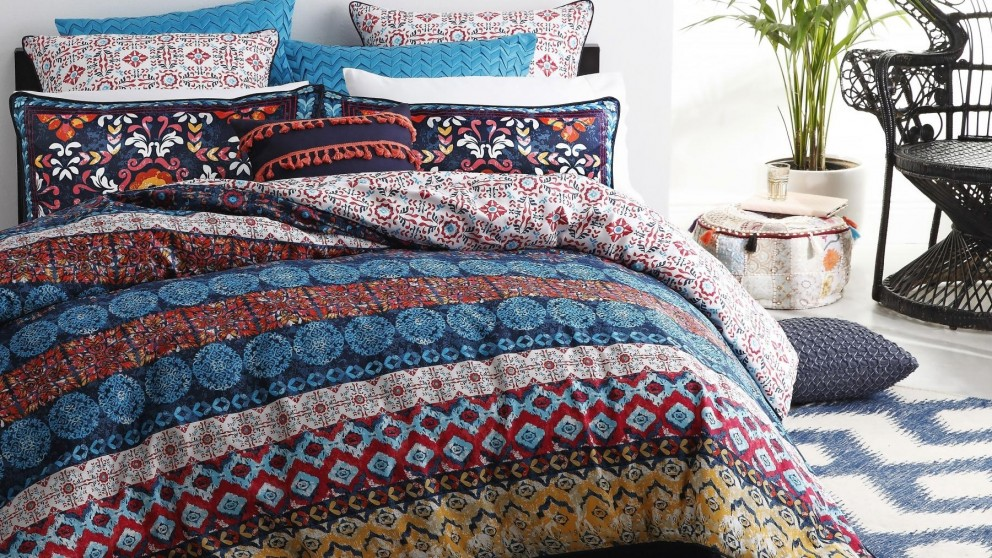 Pablo Ochre Double Quilt Cover Set