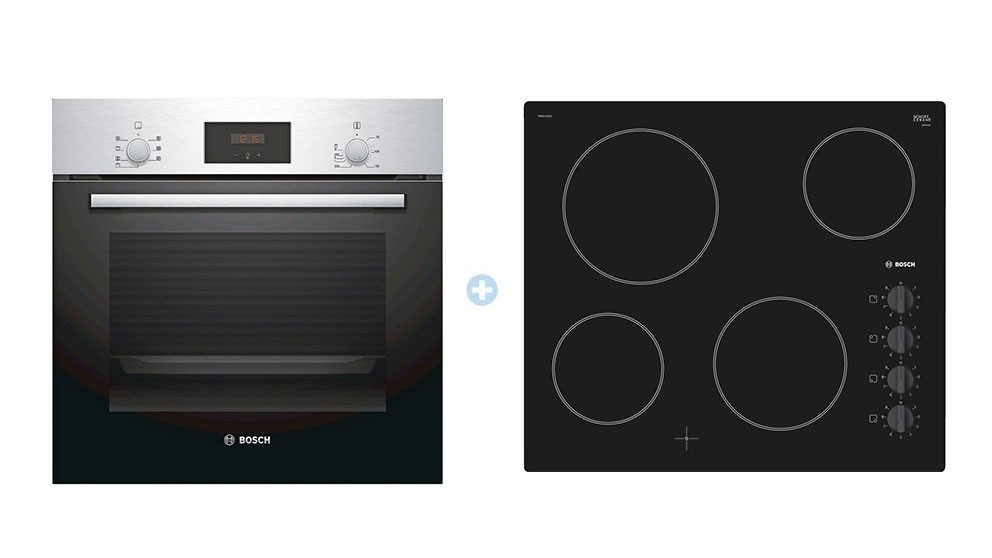 Bosch Series 2 Ceramic Cooktop & Bosch Series 2 Multifunction Built-in Electric Oven Package
