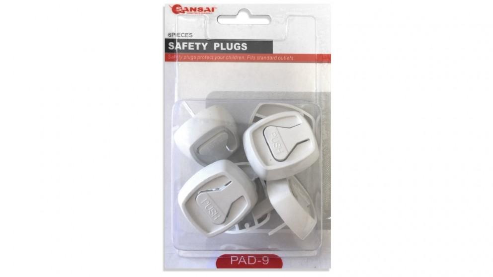 Sansai 6-Piece Baby/Child Power Point Safety Plugs
