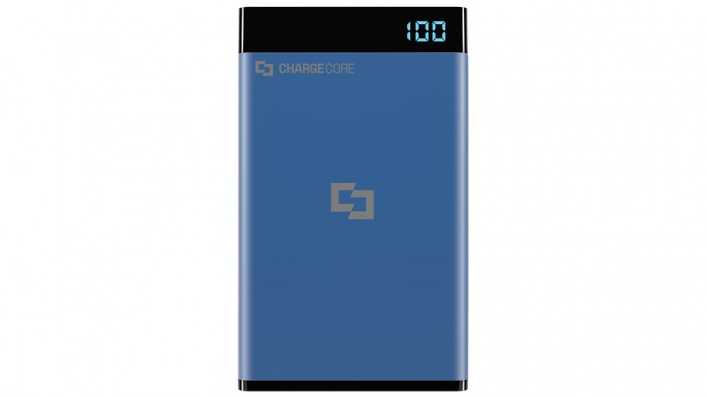 Laser 3000mAh Power Bank with 3-in-1 Cable - Blue