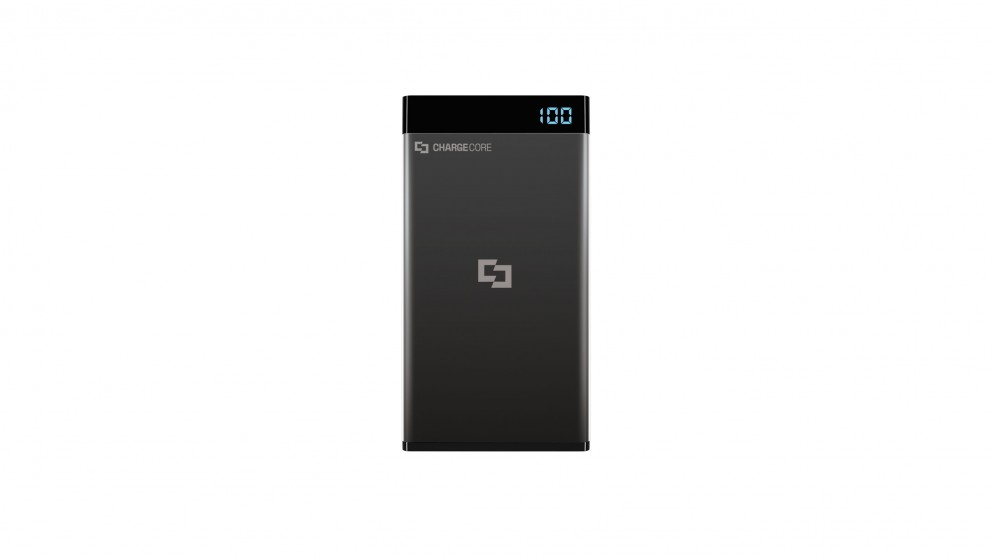 Laser 5000mAh Power Bank with 3-in-1 Cable and LED Display - Black