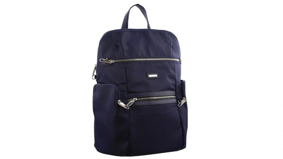 Pierre Cardin RFID Slash-Proof Nylon Backpack - Blue