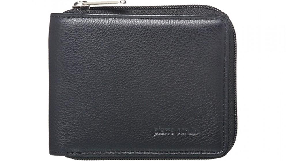 Pierre Cardin Zip-Around Mens Italian Leather Wallet