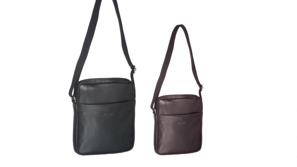 Pierre Cardin Cross-Body Leather Ipad Bag