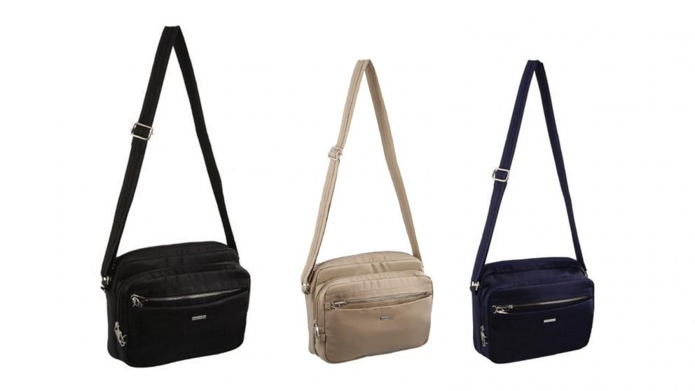 Pierre Cardin Slash Proof Nylon Cross-Body Bag