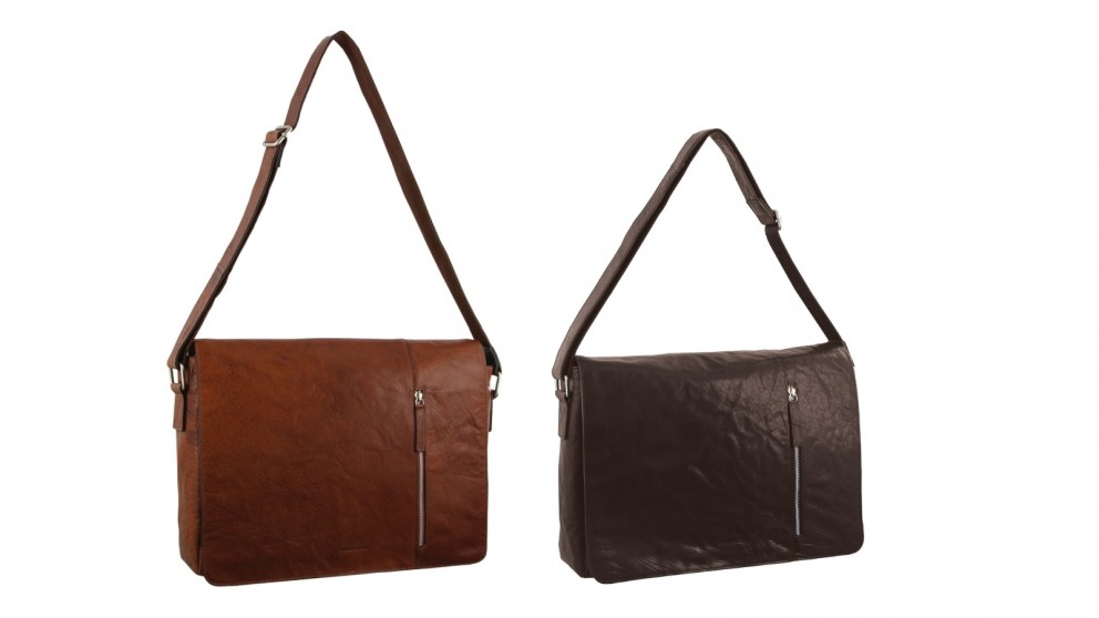 Pierre Cardin Rustic Computer Leather Bag