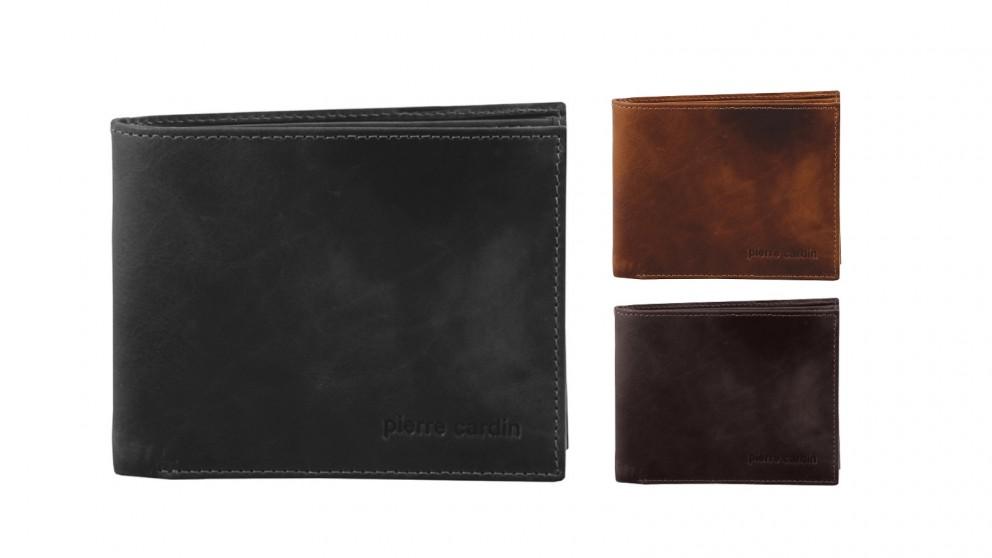 Pierre Cardin Rustic Leather Bi-Fold Men Wallet