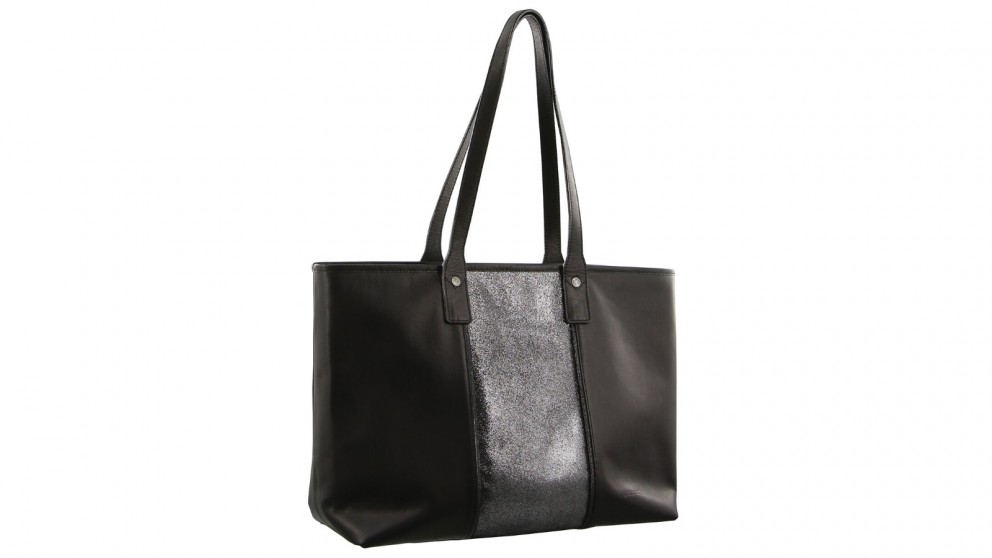 Pierre Cardin Italian Leather Tote Bag - Black