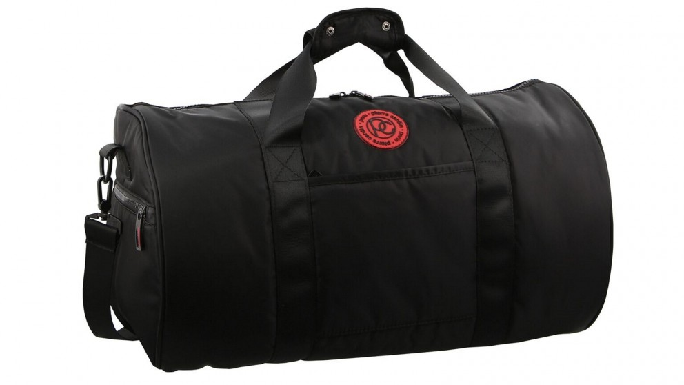 Pierre Cardin Urban Nylon Barrel Overnight Bag - Black