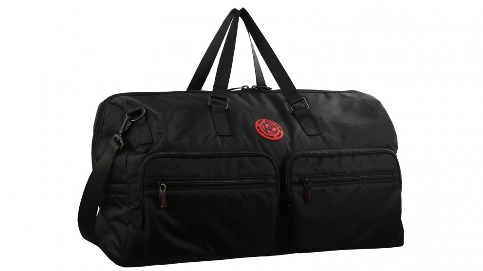 Pierre Cardin Urban Nylon Overnight Bag - Black