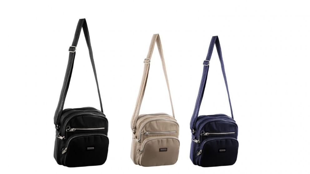 Pierre Cardin Slash-Proof Nylon Cross-Body Bag