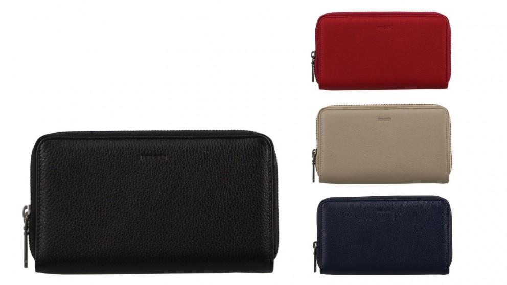Pierre Cardin Italian Leather Double Zip Ladies Wallet
