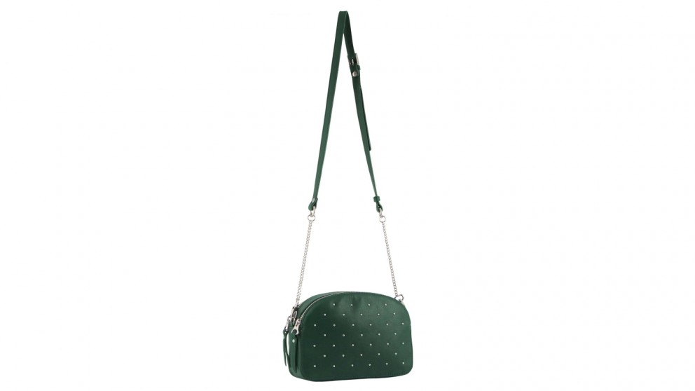 970f07a96ac Buy Pierre Cardin Leather Cross-Body Studded Bag - Forest | Harvey Norman AU