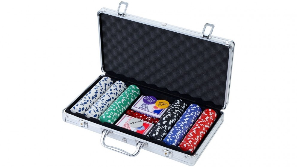 Poker Chip Set 300PC Chips Cards Dice