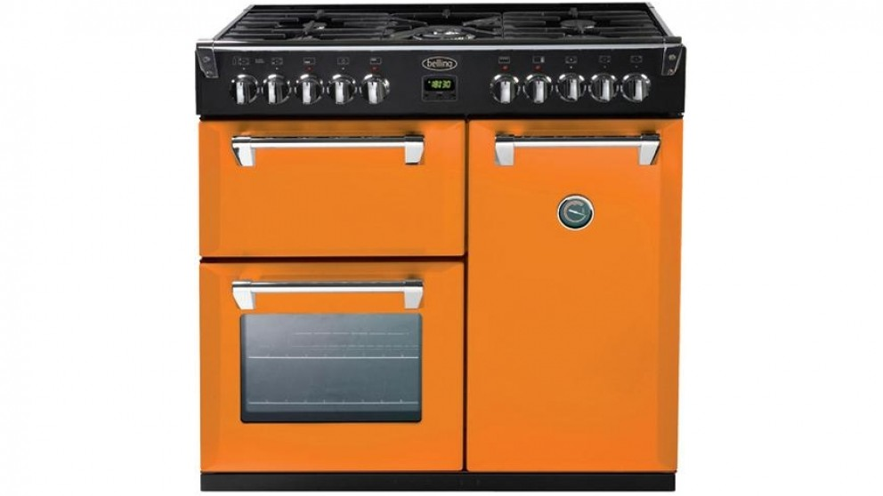 Belling 900mm Richmond Colour Boutique Dual Fuel Range Freestanding Oven - Peach Blush
