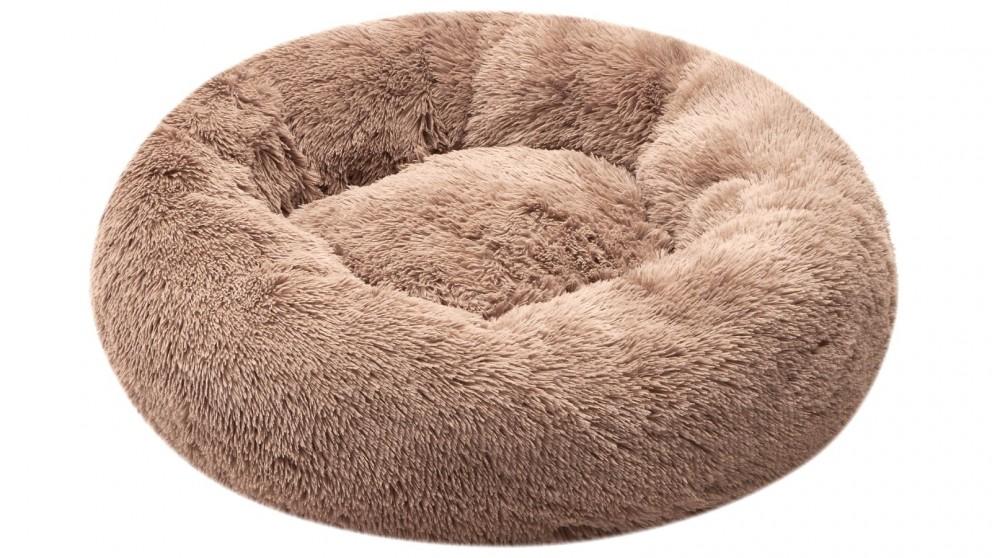 Cooper & Co. Pet 90cm Jumbo Round Soothing Pet Bed - Latte