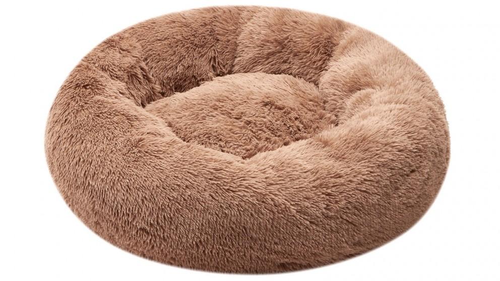 Cooper & Co. Pet 70cm Medium Round Soothing Pet Bed - Latte