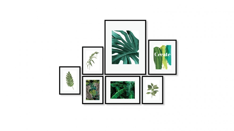 Cooper & Co. Instant Gallery Wall Frame Set Black - 7 Piece