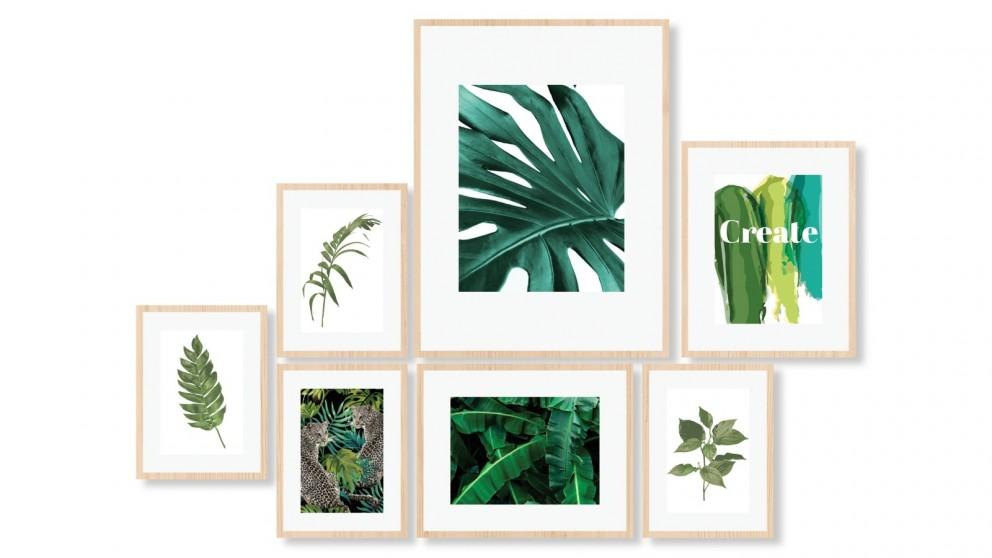 Cooper & Co. Instant Gallery Wall 7 Piece Frame Set - Oak