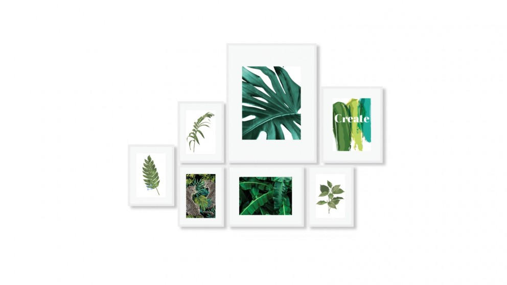 Cooper & Co. Instant Gallery Wall Frame Set White - 7 Piece