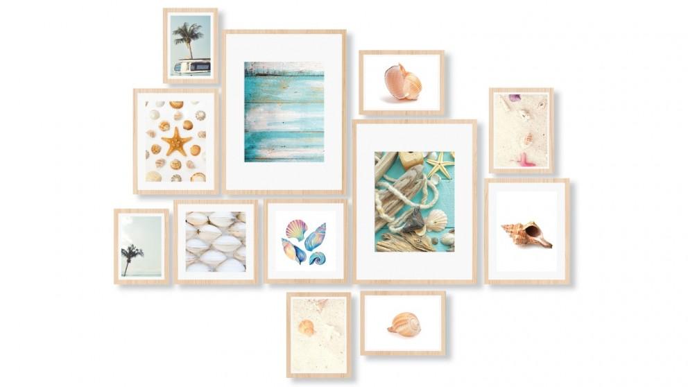Cooper & Co. Instant Gallery Wall 12-Piece Frame Set - Oak