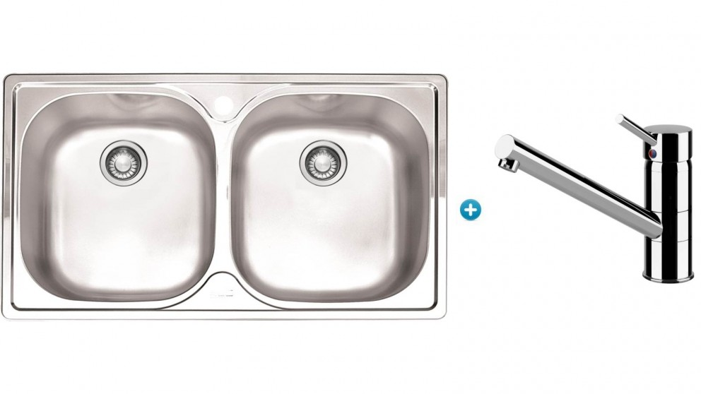 Franke Aurora Kitchen Sink and Eclipse Swivel Mixer Package