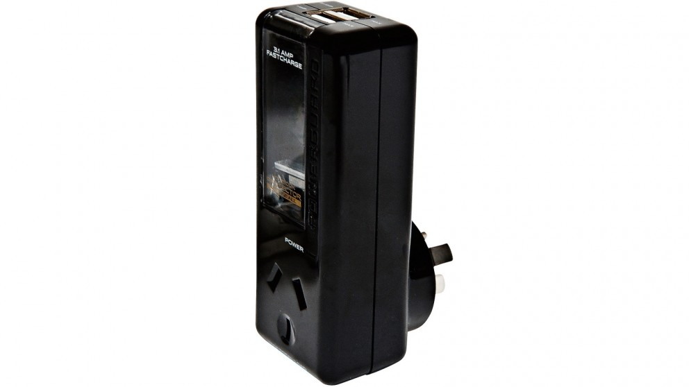 PowerGuard Notebook Protector ChargeAll Surge Protector - Black
