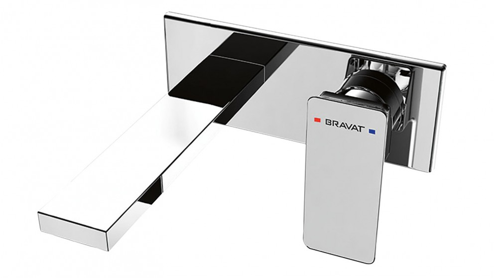 Bravat Gina Wall Mounted Basin Bath Mixer - Chrome