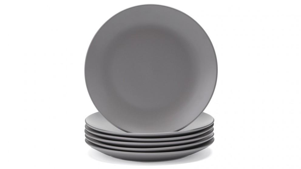 Cooper & Co. 26cm Annisa Dinner Plate Grey - Set of 6