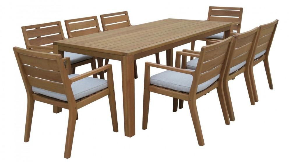 Louie 9 Piece Outdoor Rectangular Dining Setting Part 58
