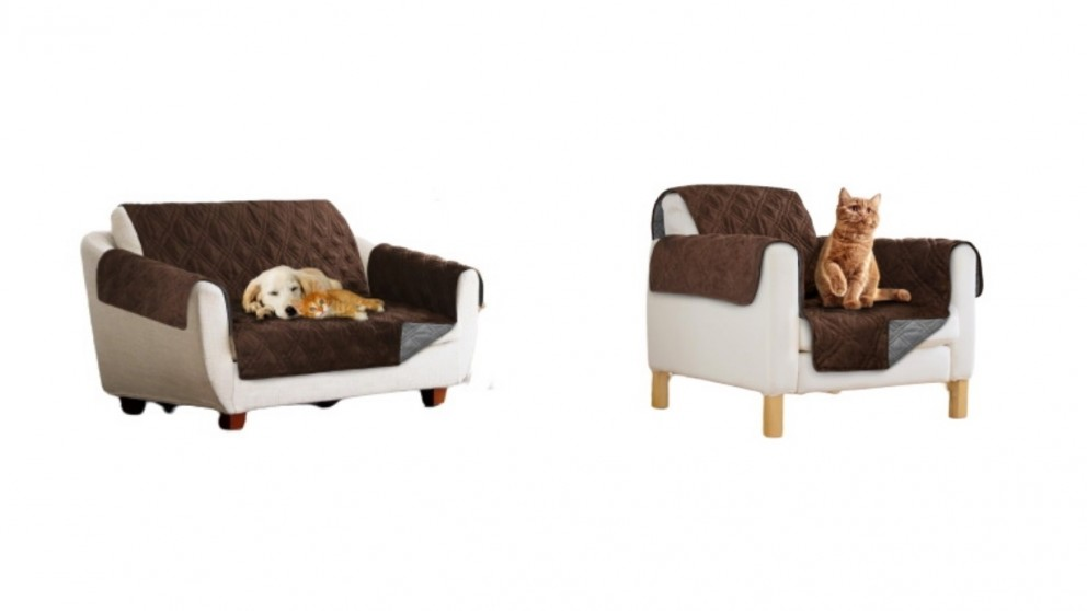 Sprint Industries Pet Sofa Cover Chocolate/Charcoal