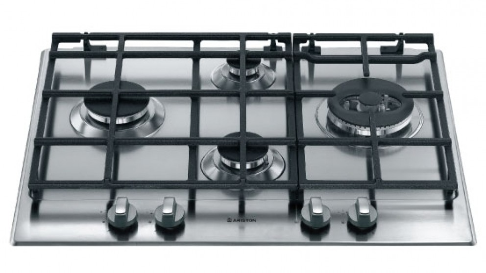 Ariston 650mm 4 Burner Gas Cooktop - Stainless Steel