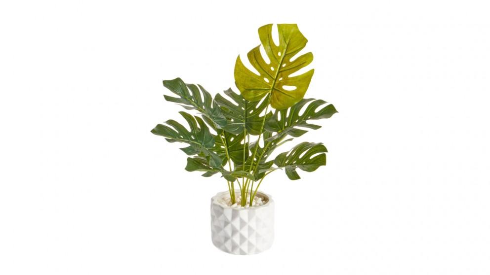 Cooper & Co. Artificial Monstera Plant in Ceramic Pot - 42cm