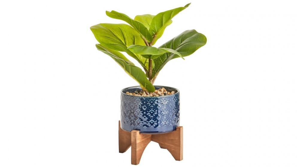 Cooper & Co. Artificial Taro Plant In Ceramic Pot - 35cm