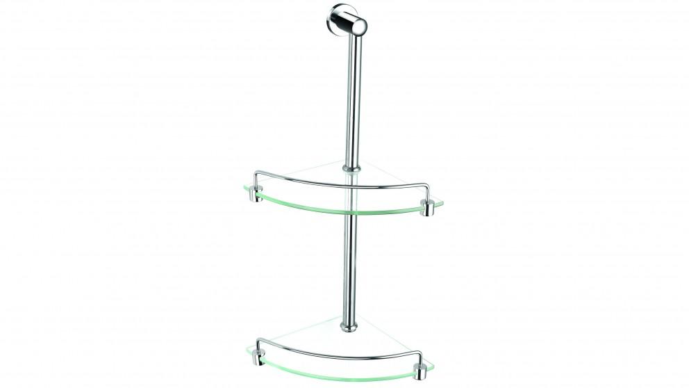 PLD Bel-Aire Plus Double Corner Glass Shelf
