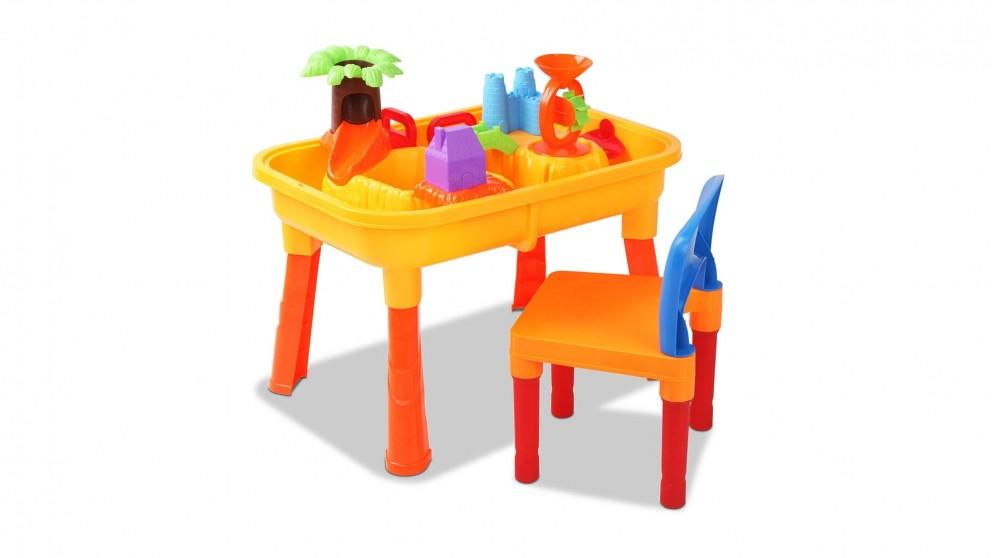 Keezi Kids Table and Chair Sandpit Set