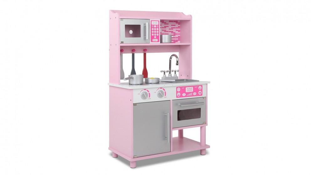 Keezi Kids Wooden Kitchen Play Set - Pink
