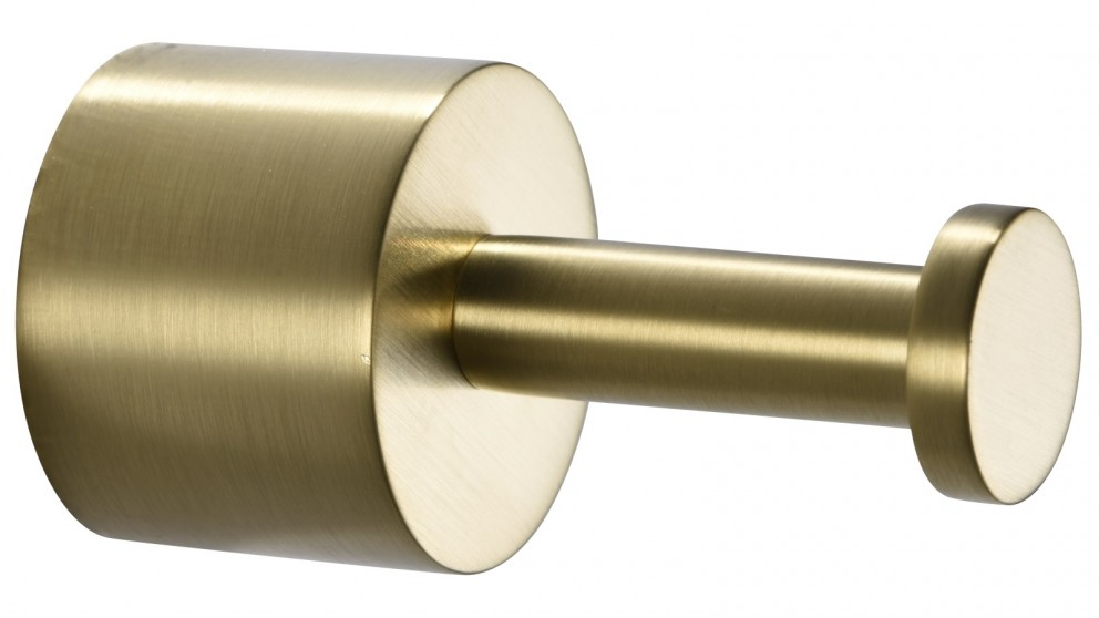 PLD Oasis Single Robe Hook - Brushed Brass