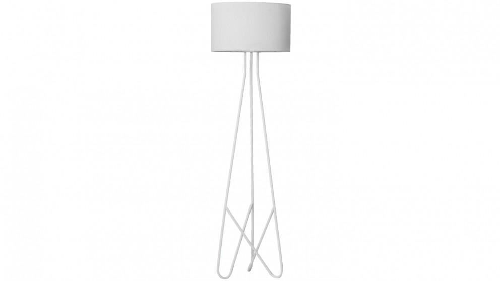 Buy Boston Floor Lamp - White   Harvey Norman AU