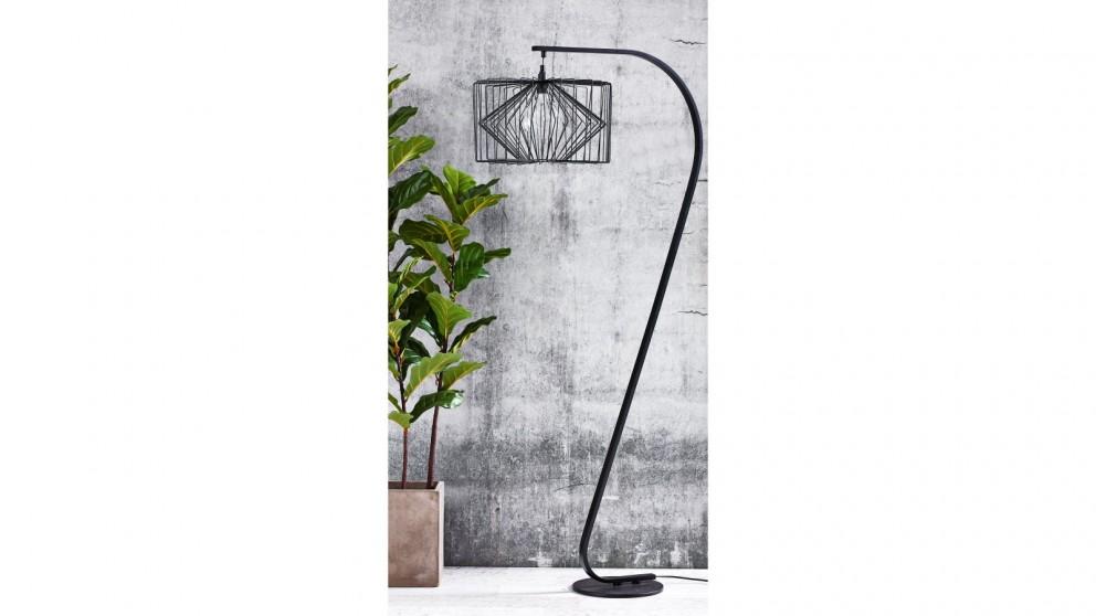 Buy finley black floor lamp harvey norman au finley black floor lamp aloadofball Gallery