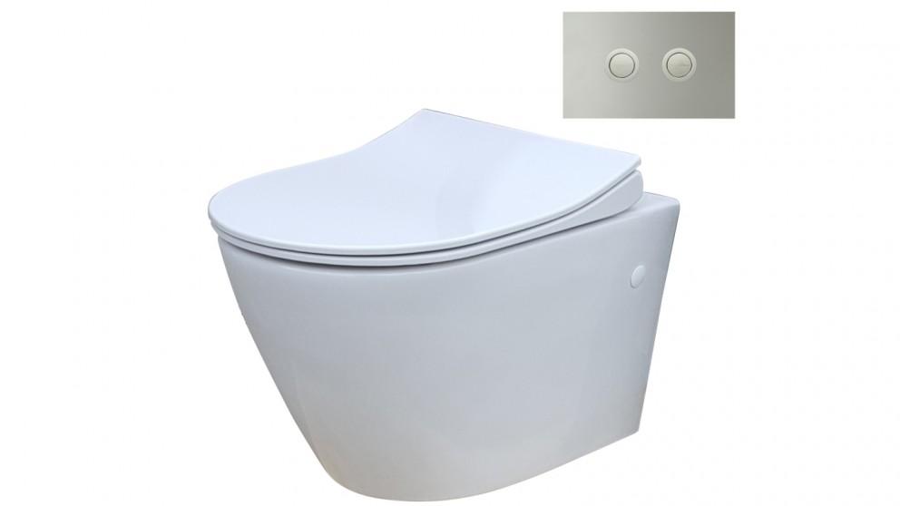 Wondrous Parisi Ellisse Mk Ii Wall Hung Toilet Suite Withtwin Button Set Chrome Metal Flush Plate Creativecarmelina Interior Chair Design Creativecarmelinacom