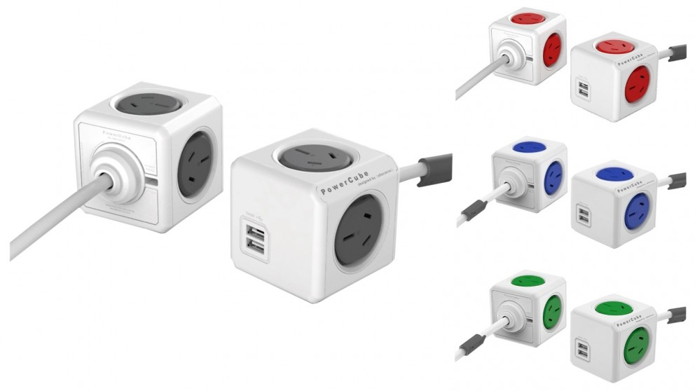Allocacoc Powercube Extended USB with 3m Cable
