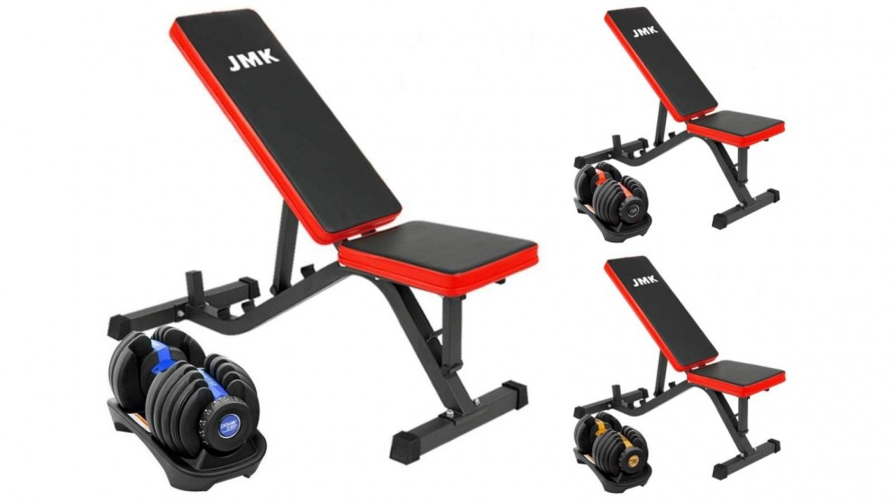 PowerTrain 1x 24kg Dumbbell with ZYDB Bench