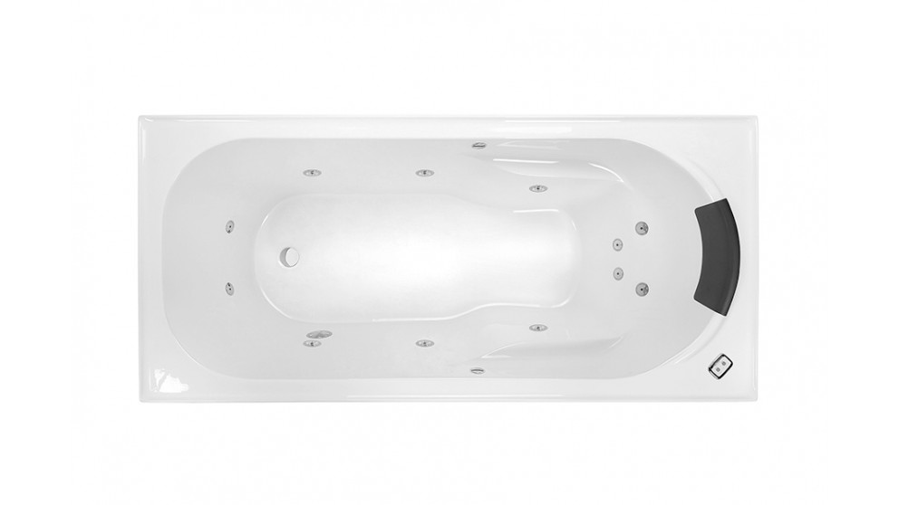 Decina Prima 1650mm Contour 12 Jet Smooth Base Spa Bath