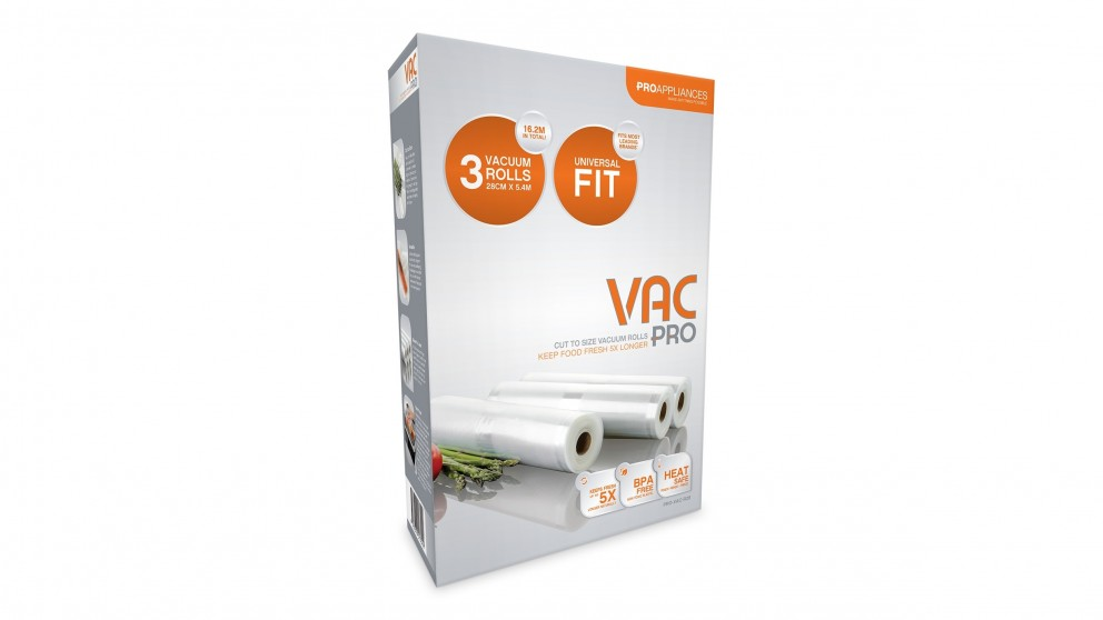 Vacpro 280mm Vacuum Sealing Bags - 3 Pack