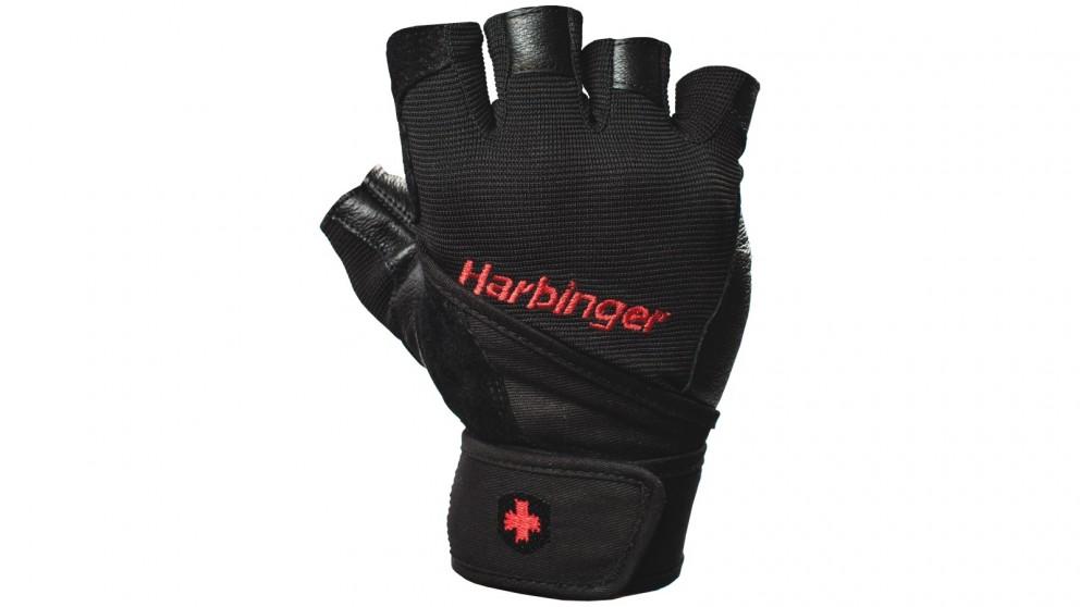 Harbinger Pro Wristwrap Black Gloves - Medium