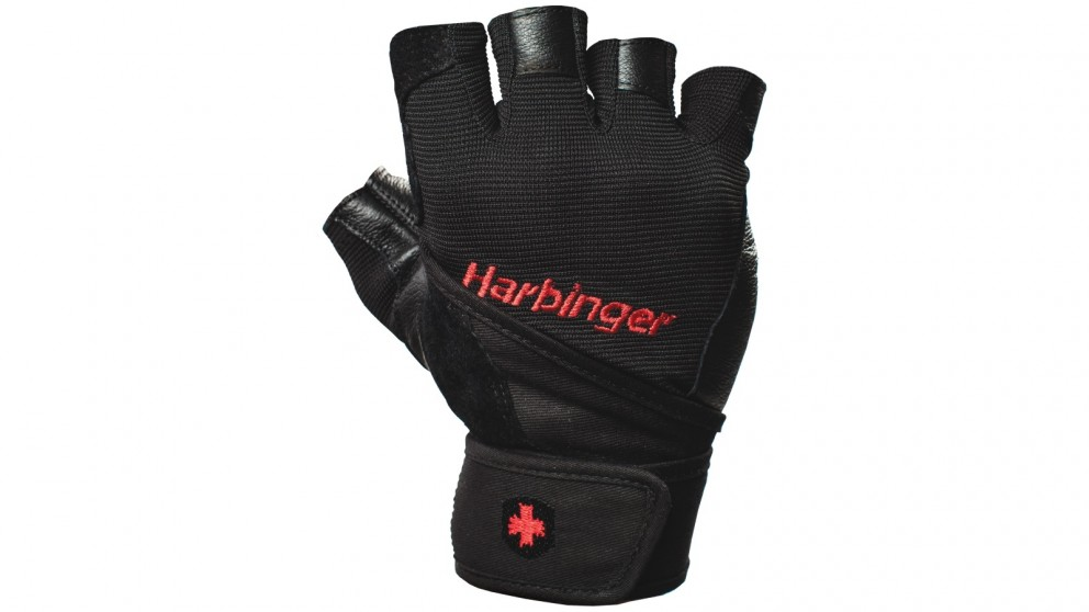 Harbinger Pro Wristwrap Black Gloves - Extra X-Large
