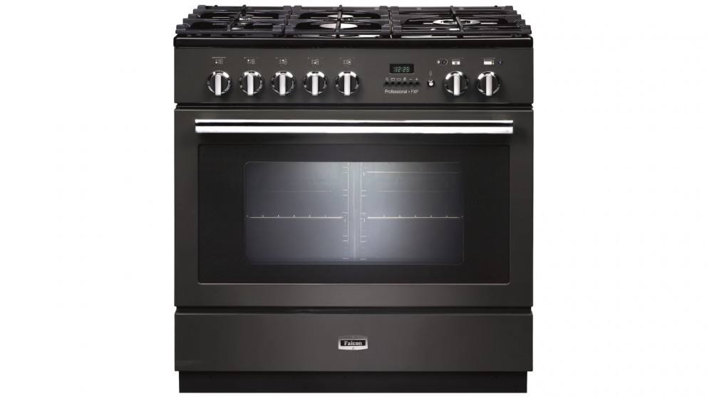 Falcon Professional+ FXP 900mm Pyrolytic Dual Fuel Freestanding Cooker - Slate/Chrome
