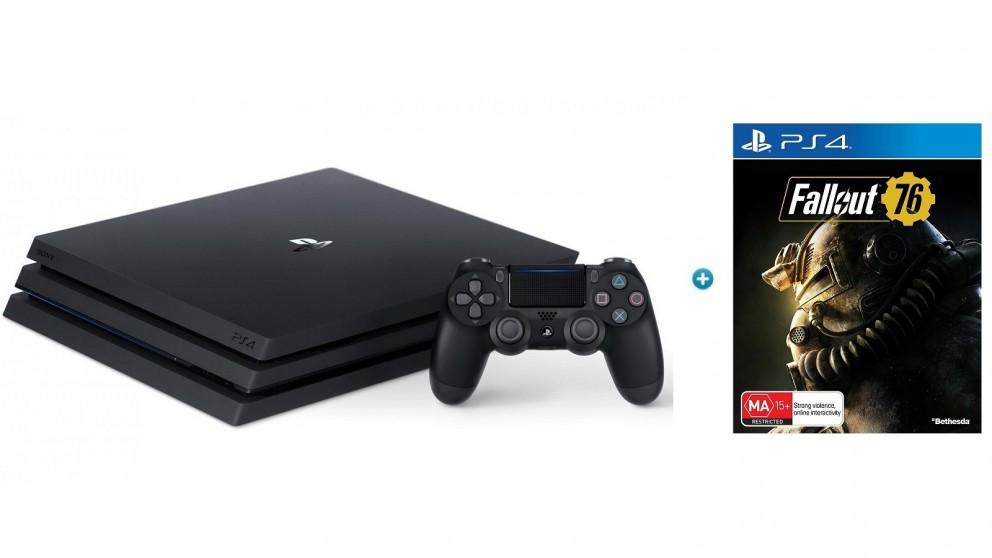 PS4 1TB Pro Console - Black + Bonus Fallout 76